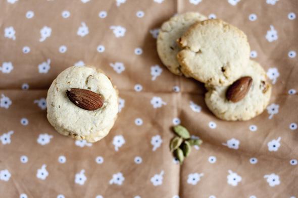 Eggless Almond Cardamom Cookies | BHH