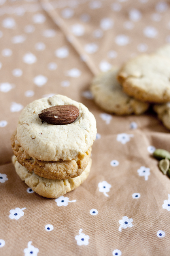Eggless Almond Cardamom Cookies | BHH