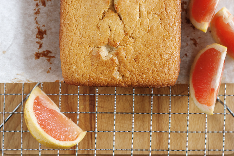 Grapefruit Brown Butter Pound Cake