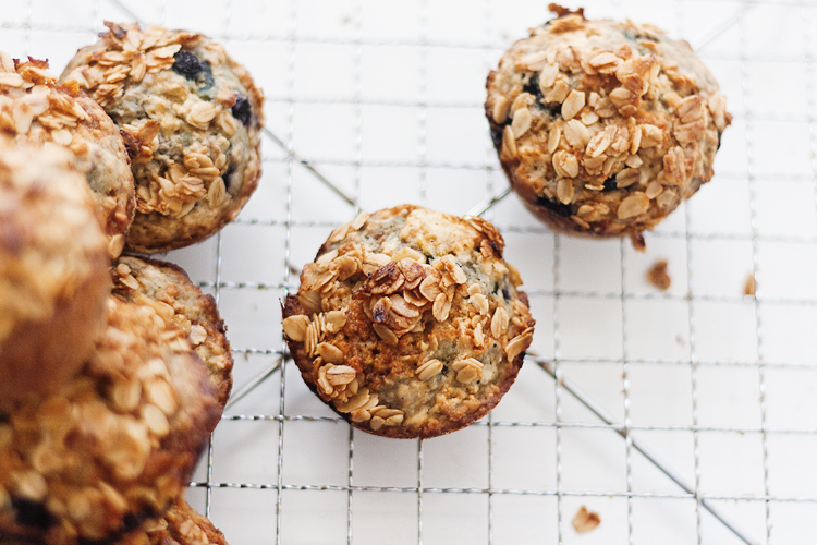 Buttermilk Oat Blueberry Muffin